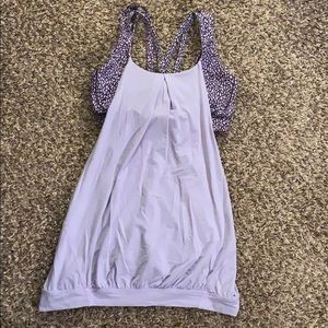Purple LULULEMON Sports Bra Tank Top Size 8